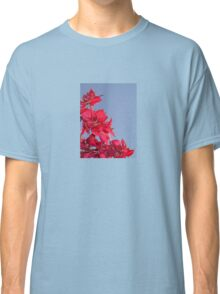 Pink Red Blooming Bougainvilleas Against A Blue Sky Classic T-Shirt