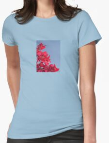 Pink Red Blooming Bougainvilleas Against A Blue Sky T-Shirt