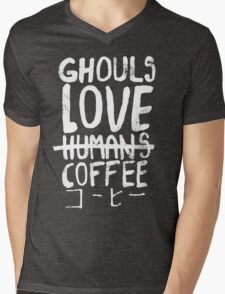Ghouls love coffee Mens V-Neck T-Shirt