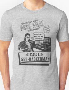Hackerman hacking bullet wounds T-Shirt