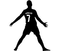 Cristiano Ronaldo Real Madrid Celebration Black and White by RidahOO