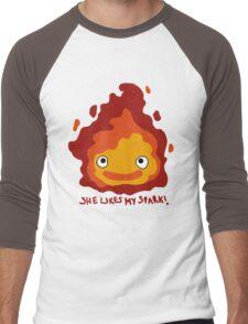 She likes my spark! Men's Baseball ¾ T-Shirt