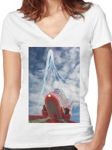 The Red Arrows - Eastbourne 2015 Women's Fitted V-Neck T-Shirt
