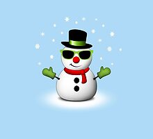 Cool Snowman with Shades and Adorable Smirk by PLdesign