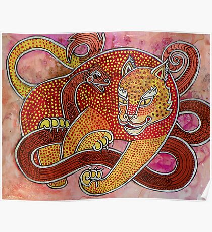 Leopard and Snake Poster