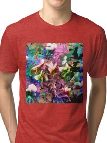 Abstract pansies Tri-blend T-Shirt