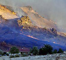 Palomino Valley range fire  by SB  Sullivan