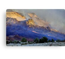 Palomino Valley range fire  Canvas Print