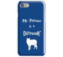 My Patronus is a Direwolf iPhone Case/Skin