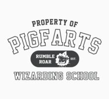Starkid: Pigfarts wizarding school (grey) Kids Clothes