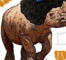 Rhino extinction? That's stinkin' thinkin'! Sticker