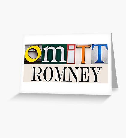 Omitt Romney Greeting Card