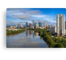 Aerial View of Lady Bird Lake and the Austin Skyline 1 Canvas Print