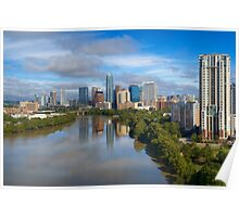 Aerial View of Lady Bird Lake and the Austin Skyline 1 Poster