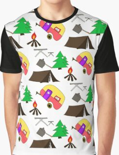 Camping hand drawn pattern vector illustration Graphic T-Shirt
