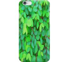 GREEN LEAVES - THROW PILLOW iPhone Case/Skin