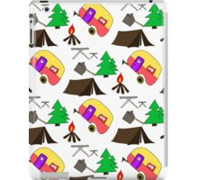 Camping hand drawn pattern vector illustration iPad Case/Skin