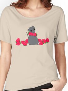 Yuki and Strawberries Women's Relaxed Fit T-Shirt
