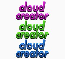 Triple Colour Cloud Creator. Unisex T-Shirt