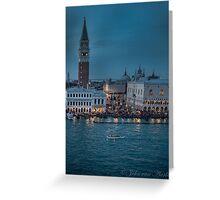 (see large)        ...Venice at night .... Greeting Card