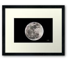 Moon 3-19-2011 Framed Print