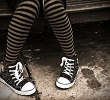 Striped Socks & Sneakers by Fotomus-Digital