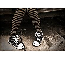 Striped Socks & Sneakers Photographic Print