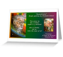 Remembrance card Greeting Card