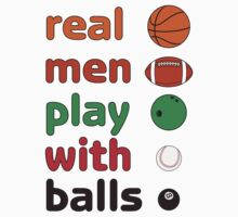 Funny REAL MEN T-shirt by ethnographics