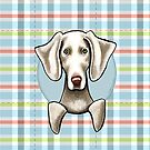 Weimaraner Pale Plaid by offleashart