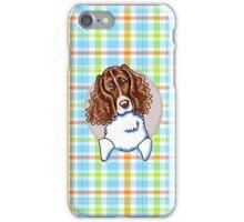 Springer Spaniel Pretty Plaid iPhone Case/Skin