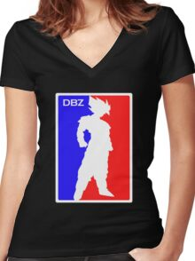 Major League Dragon Ball Women's Fitted V-Neck T-Shirt