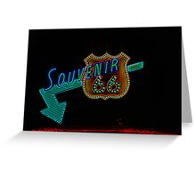 Souvenir on Route 66 Greeting Card