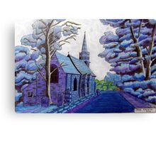 350 - BEADNELL BLUE - DAVE EDWARDS - COLOURED PENCILS & INK - 2012 Canvas Print