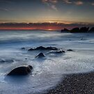 Pebble Beach Sunset (Not the Pebble Beach your thinking of :) by Toby Harriman