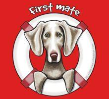 Weimaraner :: First Mate One Piece - Short Sleeve