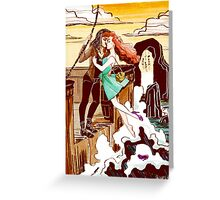 The Pirate and the Mermaid Greeting Card