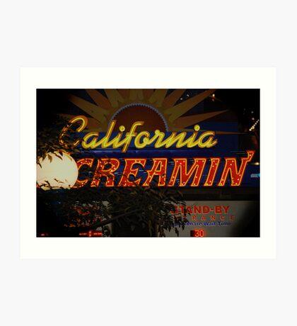California Creamin'? Art Print