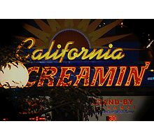 California Creamin'? Photographic Print