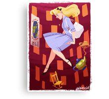 Falling Down the Rabbit Hole Canvas Print