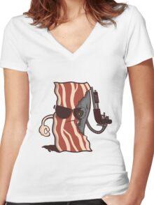 Baconator Women's Fitted V-Neck T-Shirt