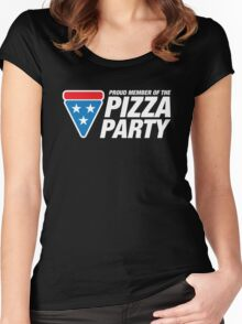 PIZZA PARTY Women's Fitted Scoop T-Shirt