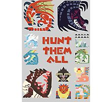 MONSTER HUNTER 4 - HUNT THEM ALL Photographic Print