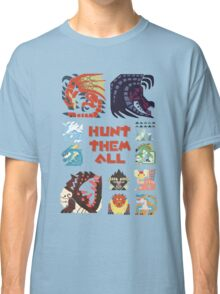MONSTER HUNTER 4 - HUNT THEM ALL Classic T-Shirt