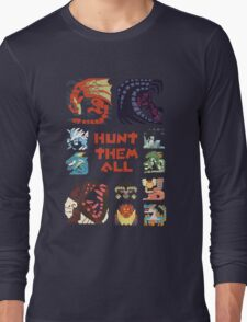 MONSTER HUNTER 4 - HUNT THEM ALL Long Sleeve T-Shirt