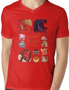 MONSTER HUNTER 4 - HUNT THEM ALL Mens V-Neck T-Shirt