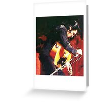 Elvis On Stage 69 Greeting Card