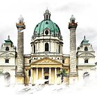 Karls-Church in Vienna by SkatingGirl
