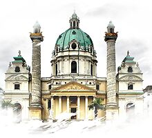 Karls-Church in Vienna by SkatingGirl