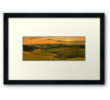 Glazegate Valley Framed Print